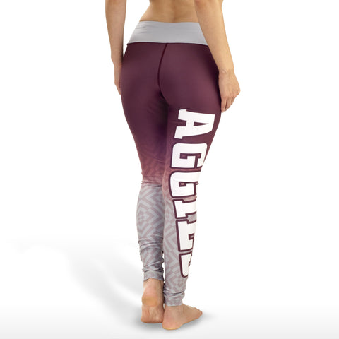Texas A&M Aggies Womens Official NCAA Gradient Print Leggings