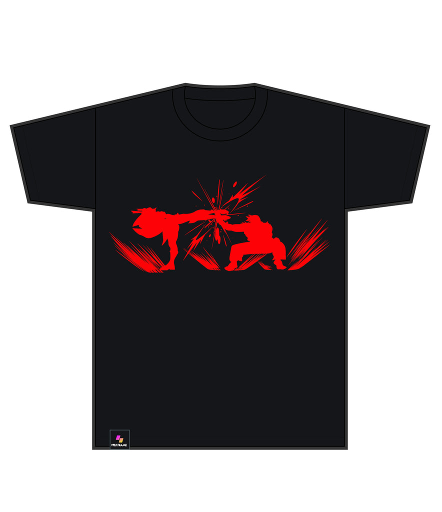 PARRY SILHOUETTE TEE | LEGENDS EDITION (Red on BLACK TEE)