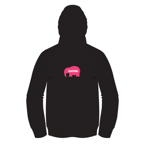 SANWA DENSHI PINK ELEPHANT MASHER (HOT METALLIC) Hoodie