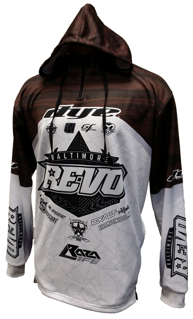 Baltimore Revo Woodie Tech Hoodie - RazaLife - Tech Hoodie - Razalife - RazaLife - paintball - custom - jerseys - sports - uniforms - woodsball - softball - baseball - basketball - soccer