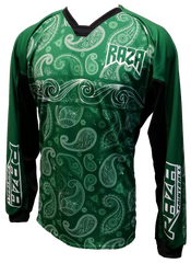 Bandana Green/White TM2 Jersey - RazaLife - TM2 Jersey - RazaLife - RazaLife - paintball - custom - jerseys - sports - uniforms - woodsball - softball - baseball - basketball - soccer