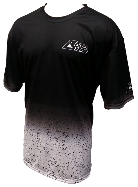 Speckled Black White Tech Shirt