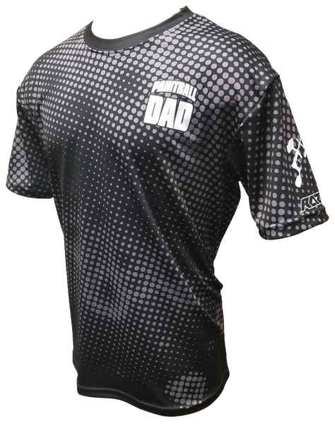 Paintball Dad Black Tech Shirt