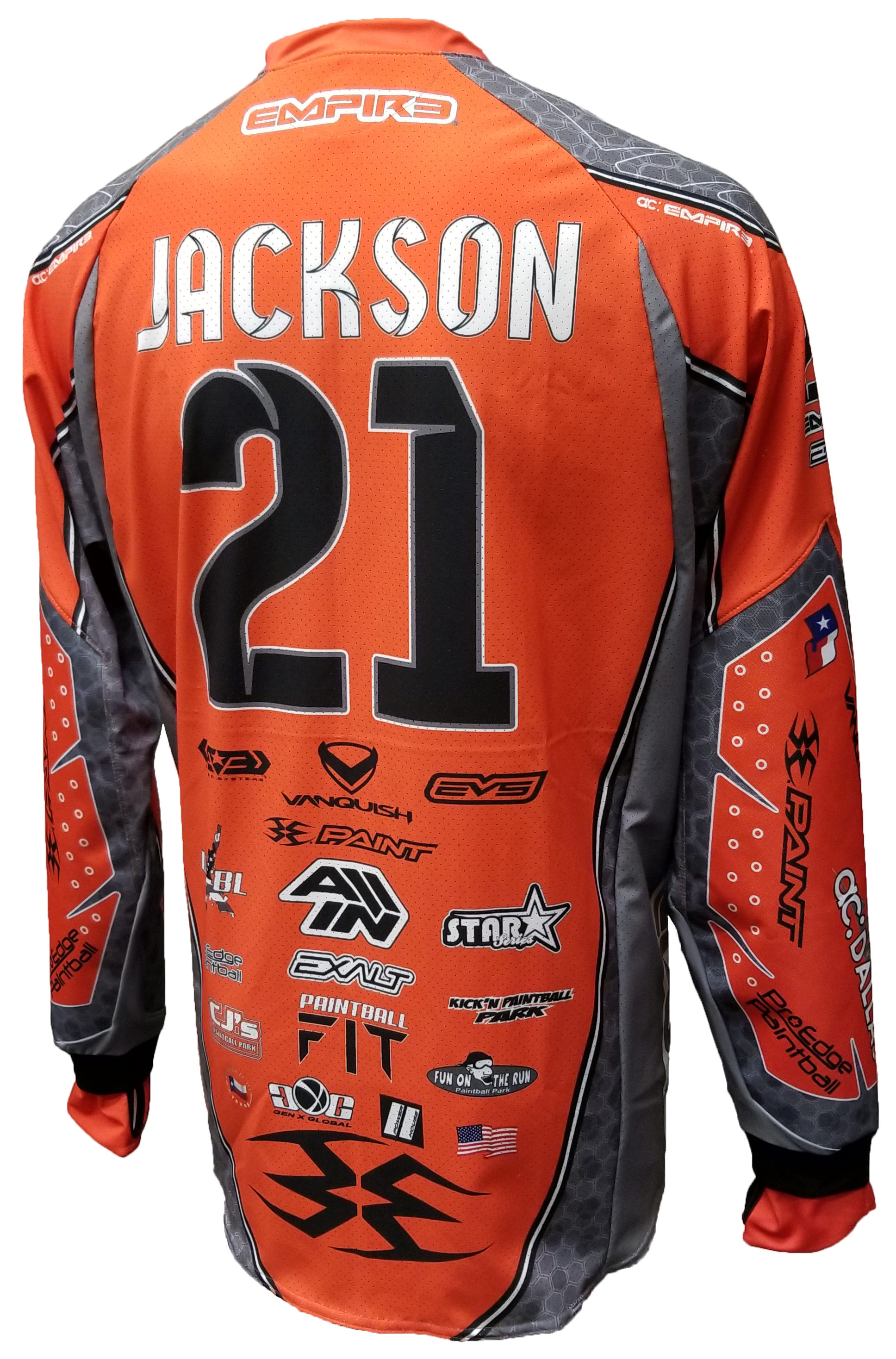ac Dallas 2018 Away (Orange) Jersey - RazaLife -  - RazaLife - RazaLife - paintball - custom - jerseys - sports - uniforms - woodsball - softball - baseball - basketball - soccer