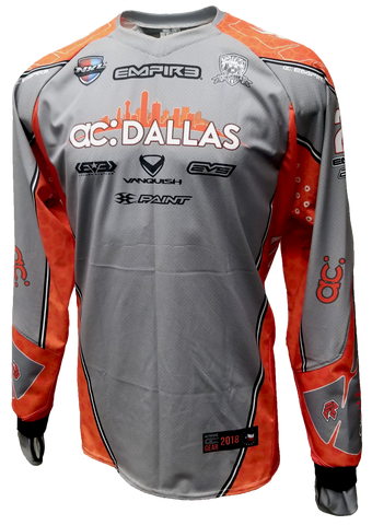 ac Dallas 2018 Home (Grey) Jersey - RazaLife -  - RazaLife - RazaLife - paintball - custom - jerseys - sports - uniforms - woodsball - softball - baseball - basketball - soccer