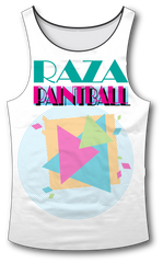 80's Beach Tank Top - RazaLife - Tech Tank Top - RazaLife - RazaLife - paintball - custom - jerseys - sports - uniforms - woodsball - softball - baseball - basketball - soccer