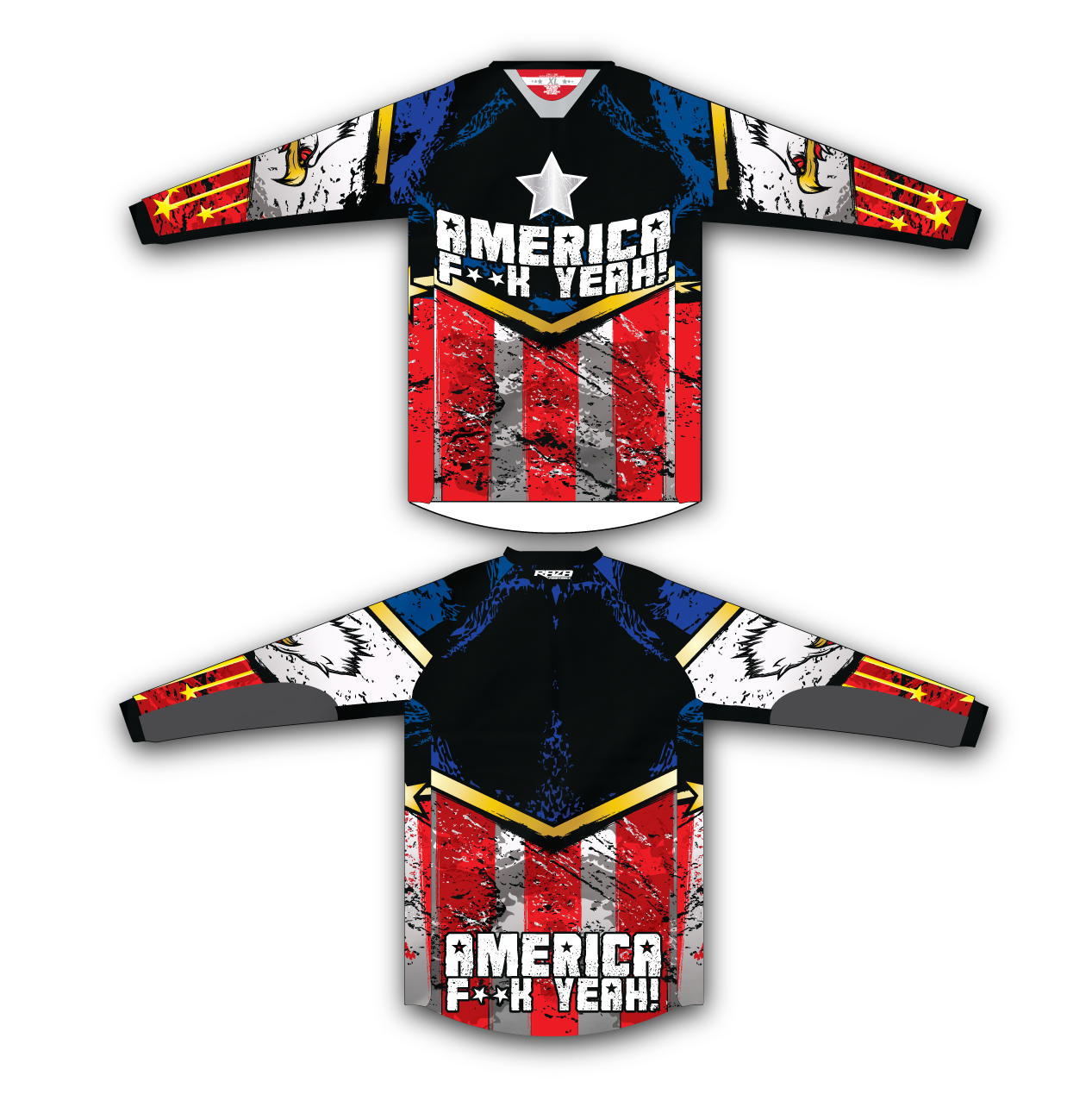 America TMX Jersey - RazaLife - TMX Jersey - RazaLife - RazaLife - paintball - custom - jerseys - sports - uniforms - woodsball - softball - baseball - basketball - soccer