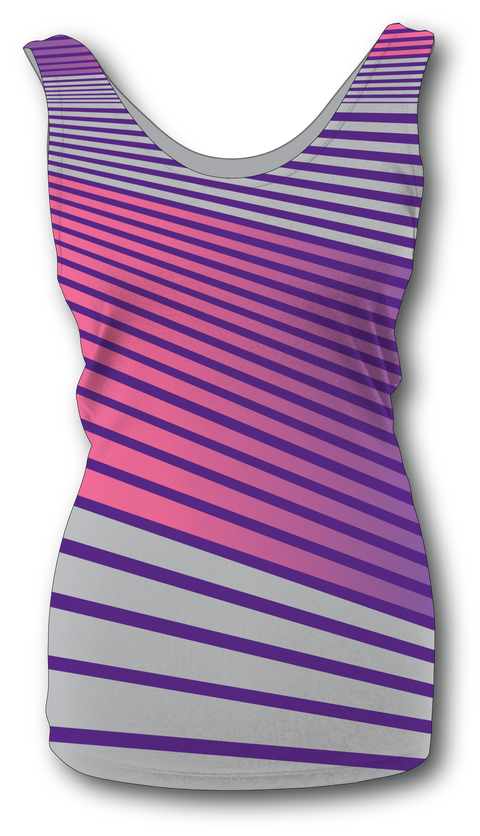 Women's Angle Stripe Tank Top Purple