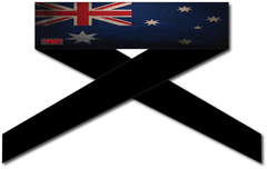 Australia Flag Series Headband - RazaLife - Headband - Razalife - RazaLife - paintball - custom - jerseys - sports - uniforms - woodsball - softball - baseball - basketball - soccer