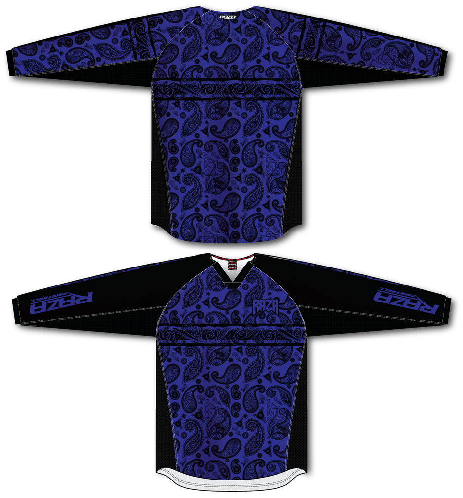 Bandana Blue/Black TM2 Jersey - RazaLife - TM2 Jersey - RazaLife - RazaLife - paintball - custom - jerseys - sports - uniforms - woodsball - softball - baseball - basketball - soccer