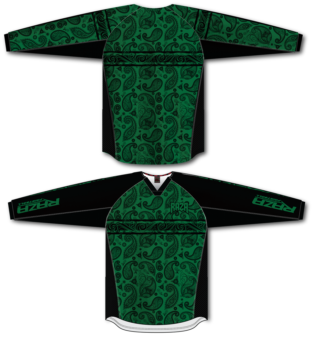 Bandana Green/Black TM2 Jersey - RazaLife - TM2 Jersey - RazaLife - RazaLife - paintball - custom - jerseys - sports - uniforms - woodsball - softball - baseball - basketball - soccer