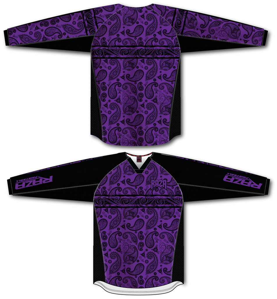 Bandana Purple/Black TM2 Jersey - RazaLife - TM2 Jersey - RazaLife - RazaLife - paintball - custom - jerseys - sports - uniforms - woodsball - softball - baseball - basketball - soccer