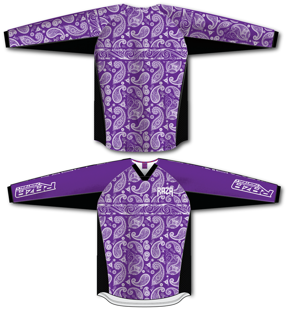 Bandana Purple/White TM2 Jersey - RazaLife - TM2 Jersey - RazaLife - RazaLife - paintball - custom - jerseys - sports - uniforms - woodsball - softball - baseball - basketball - soccer