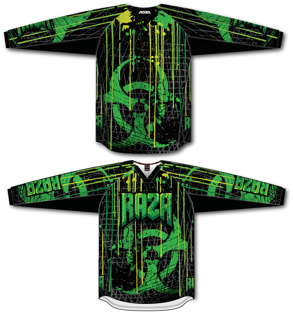 BioHazard TM2 Jersey - RazaLife - TM2 Jersey - RazaLife - RazaLife - paintball - custom - jerseys - sports - uniforms - woodsball - softball - baseball - basketball - soccer