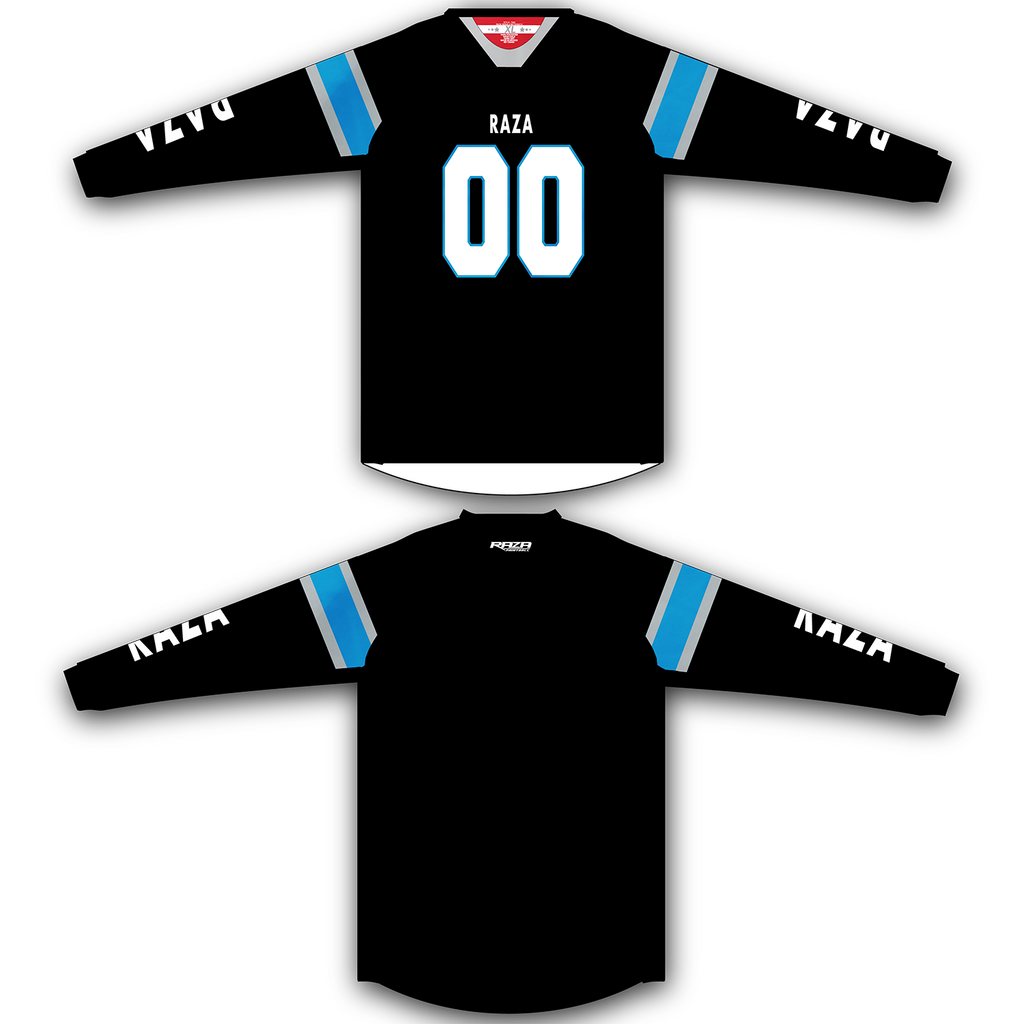 Black Blue White TM2 Jersey - RazaLife - TM2 Jersey - RazaLife - RazaLife - paintball - custom - jerseys - sports - uniforms - woodsball - softball - baseball - basketball - soccer