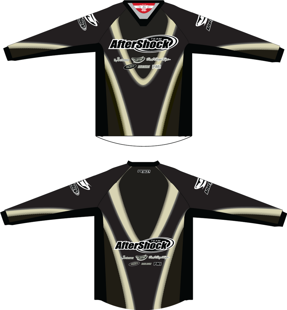 Aftershock Throwback Black TM2 JERSEY - RazaLife - TM2 Jersey - RazaLife - RazaLife - paintball - custom - jerseys - sports - uniforms - woodsball - softball - baseball - basketball - soccer