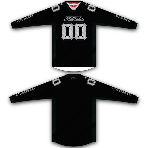 Black Silver TM2 Jersey - RazaLife - TM2 Jersey - RazaLife - RazaLife - paintball - custom - jerseys - sports - uniforms - woodsball - softball - baseball - basketball - soccer