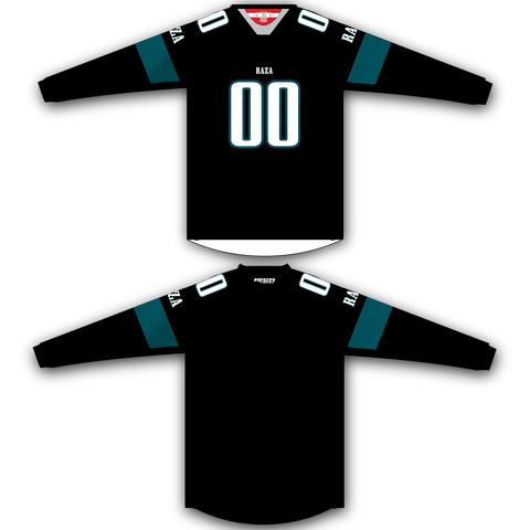 Black Teal TM2 Jersey