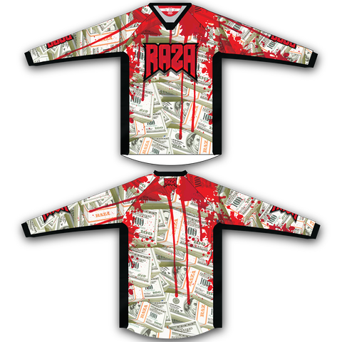 Blood Money TM2 Jersey - RazaLife - TM2 Jersey - RazaLife - RazaLife - paintball - custom - jerseys - sports - uniforms - woodsball - softball - baseball - basketball - soccer