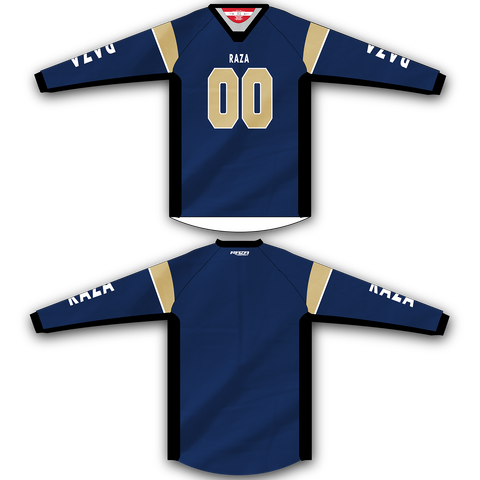 Blue Gold TM2 Jersey - RazaLife - TM2 Jersey - RazaLife - RazaLife - paintball - custom - jerseys - sports - uniforms - woodsball - softball - baseball - basketball - soccer