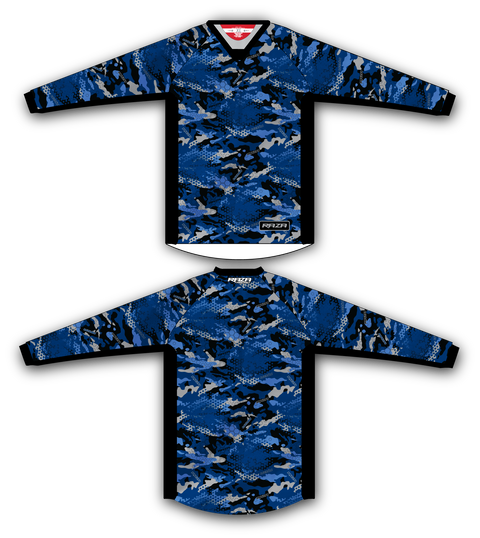 Blue Razaflage TM2 Jersey - RazaLife - TM2 Jersey - RazaLife - RazaLife - paintball - custom - jerseys - sports - uniforms - woodsball - softball - baseball - basketball - soccer