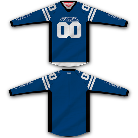 Blue White TM2 Jersey - RazaLife - TM2 Jersey - RazaLife - RazaLife - paintball - custom - jerseys - sports - uniforms - woodsball - softball - baseball - basketball - soccer