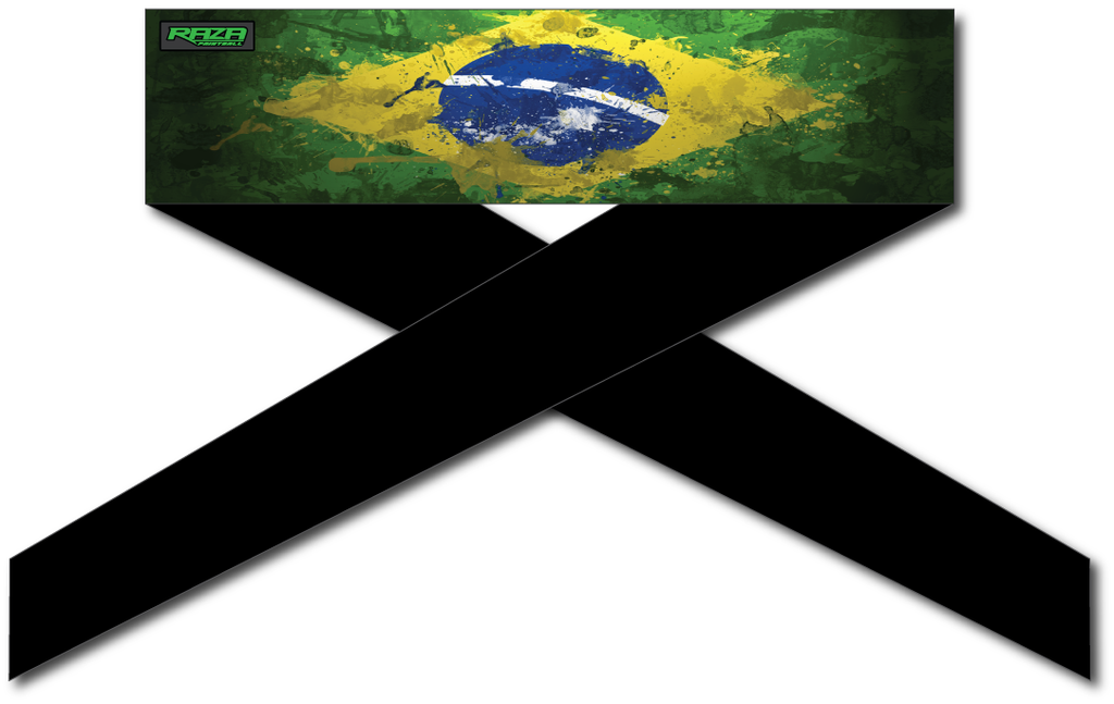 Brazil Flag Series Headband - RazaLife - Headband - Razalife - RazaLife - paintball - custom - jerseys - sports - uniforms - woodsball - softball - baseball - basketball - soccer