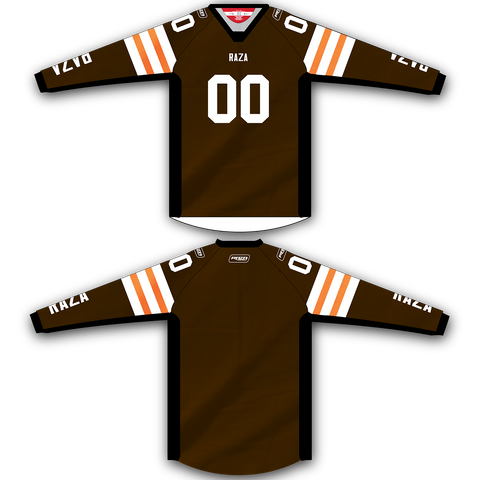 Brown TM2 Jersey - RazaLife - TM2 Jersey - RazaLife - RazaLife - paintball - custom - jerseys - sports - uniforms - woodsball - softball - baseball - basketball - soccer