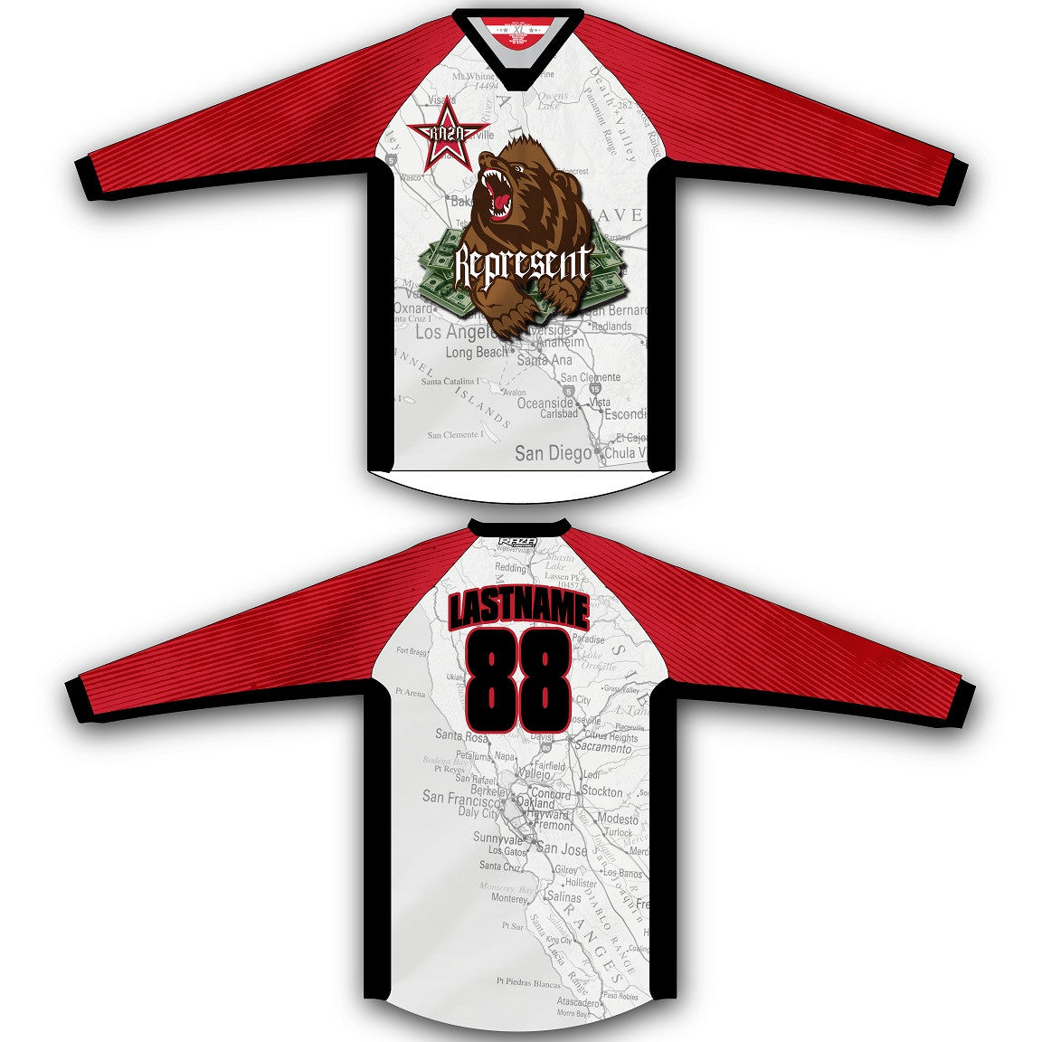 Cali Rep TM2 Jersey - RazaLife - TM2 Jersey - RazaLife - RazaLife - paintball - custom - jerseys - sports - uniforms - woodsball - softball - baseball - basketball - soccer