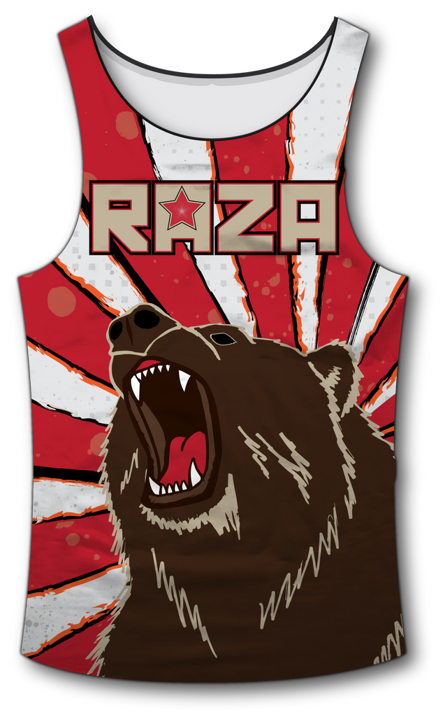 Cali Rep 2 Tank Top - RazaLife - Tech Tank Top - RazaLife - RazaLife - paintball - custom - jerseys - sports - uniforms - woodsball - softball - baseball - basketball - soccer