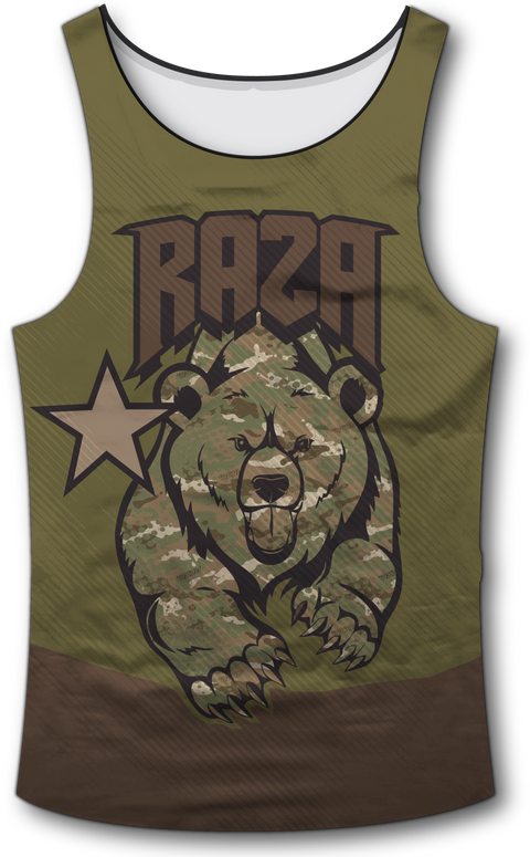 Cali Rep Tactical Tank Top - RazaLife - Tech Tank Top - RazaLife - RazaLife - paintball - custom - jerseys - sports - uniforms - woodsball - softball - baseball - basketball - soccer