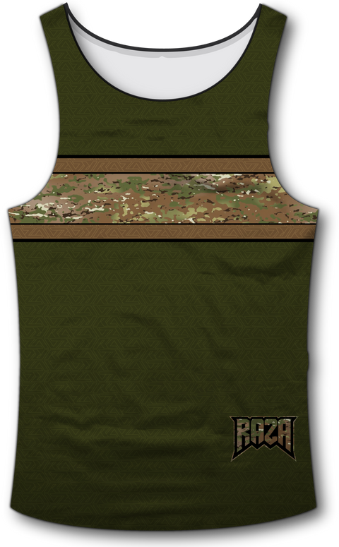Camo Stripe Tank Top - RazaLife - Tech Tank Top - RazaLife - RazaLife - paintball - custom - jerseys - sports - uniforms - woodsball - softball - baseball - basketball - soccer