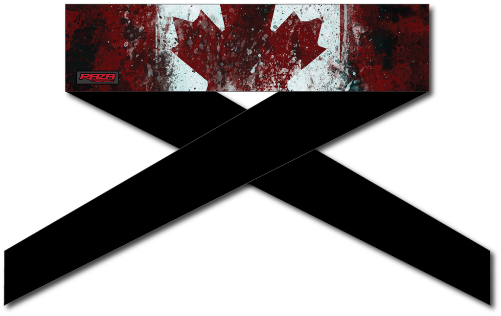 Canada Flag Series Headband - RazaLife - Headband - Razalife - RazaLife - paintball - custom - jerseys - sports - uniforms - woodsball - softball - baseball - basketball - soccer