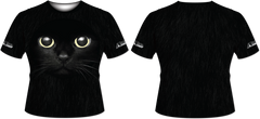 Black Cat Tech Shirt - RazaLife - Tech Shirt - Razalife - RazaLife - paintball - custom - jerseys - sports - uniforms - woodsball - softball - baseball - basketball - soccer