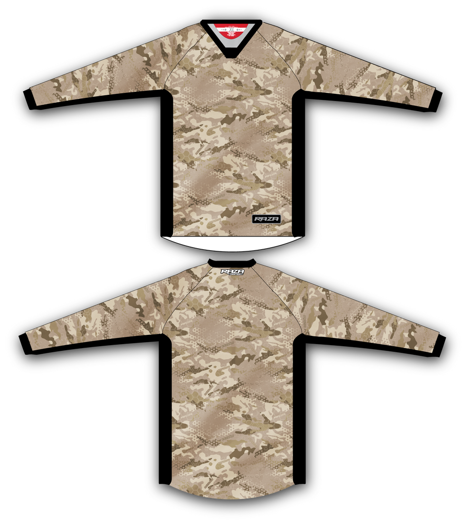 Desert Razaflage TM2 Jersey - RazaLife - TM2 Jersey - RazaLife - RazaLife - paintball - custom - jerseys - sports - uniforms - woodsball - softball - baseball - basketball - soccer