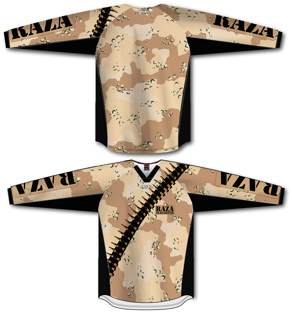 DesertStriker TM2 Jersey - RazaLife - TM2 Jersey - RazaLife - RazaLife - paintball - custom - jerseys - sports - uniforms - woodsball - softball - baseball - basketball - soccer