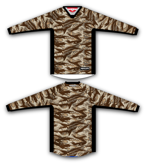 Desert Tiger TM2 Jersey - RazaLife - TM2 Jersey - RazaLife - RazaLife - paintball - custom - jerseys - sports - uniforms - woodsball - softball - baseball - basketball - soccer