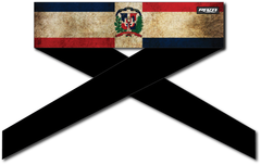 Dominican Republic Flag Series Headband - IN STOCK, ON SALE
