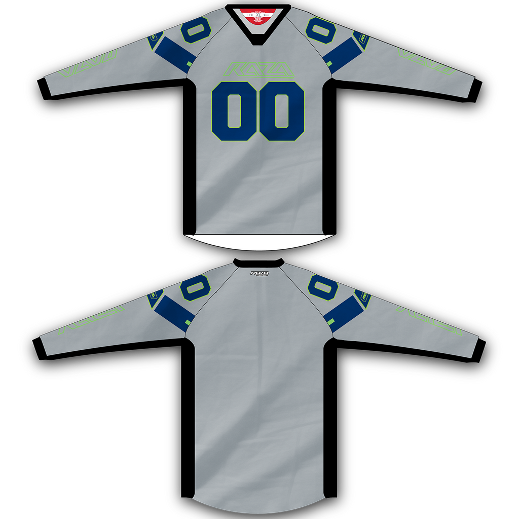Gray Navy Lime Jersey