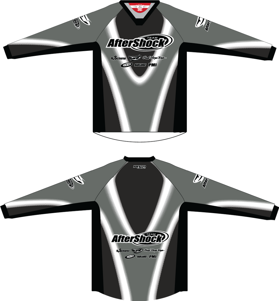 Aftershock Throwback Grey TM2 JERSEY - RazaLife - TM2 Jersey - RazaLife - RazaLife - paintball - custom - jerseys - sports - uniforms - woodsball - softball - baseball - basketball - soccer