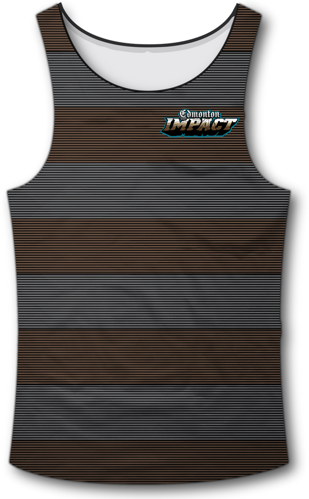 Edmonton Impact Brown Gray Tank Top