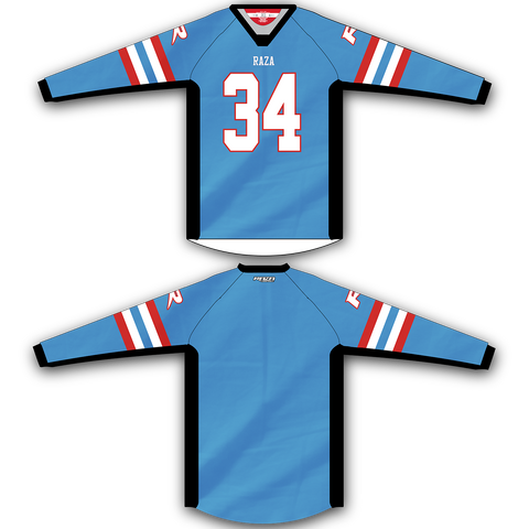 Light Blue Red Jersey