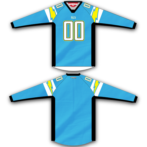 Light Blue Yellow Jersey