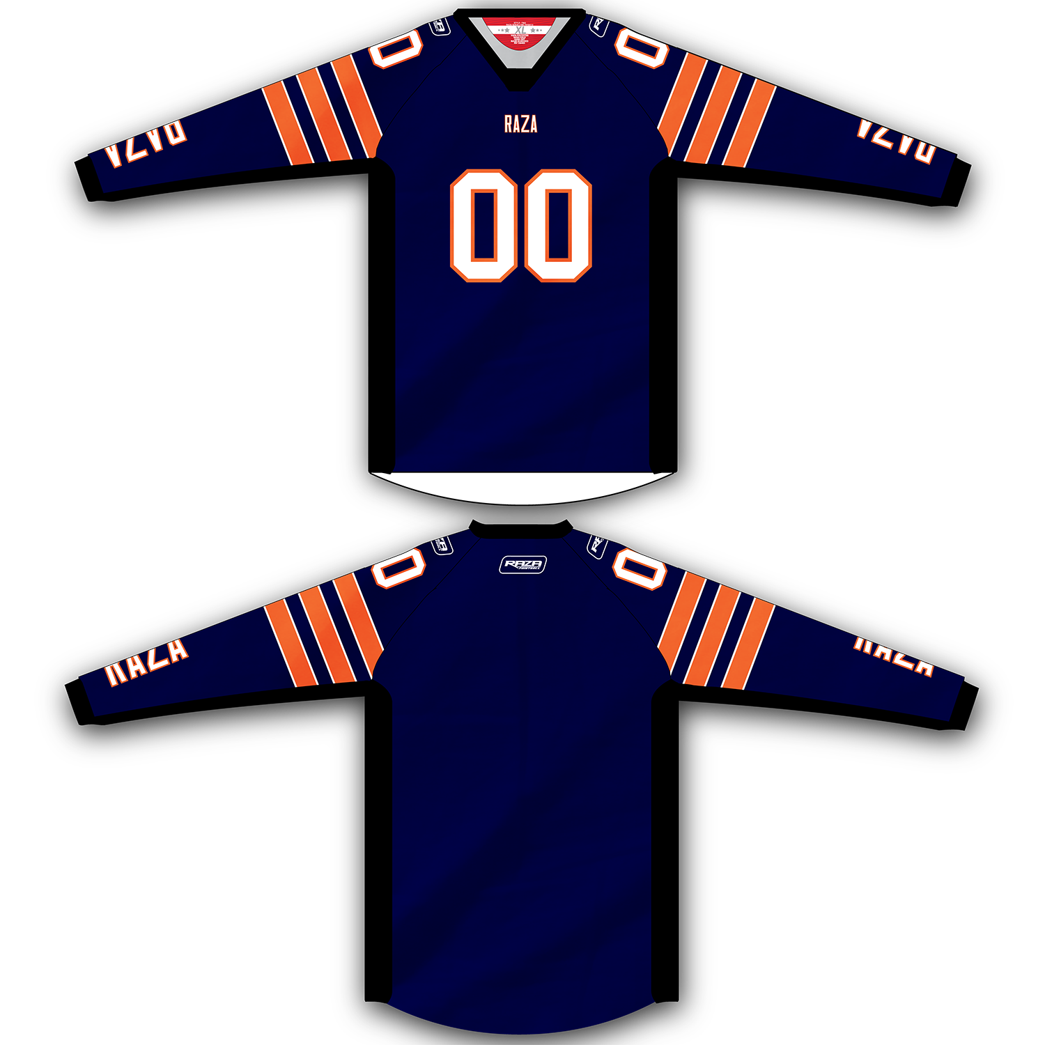 Navy Orange Stripe TM2 Jersey