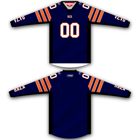 Navy Orange Stripe Jersey