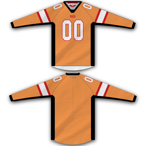 Orange Red White Jersey