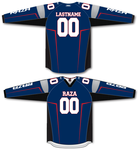Blue White Red ALT TM2 Jersey - RazaLife - TM2 Jersey - RazaLife - RazaLife - paintball - custom - jerseys - sports - uniforms - woodsball - softball - baseball - basketball - soccer