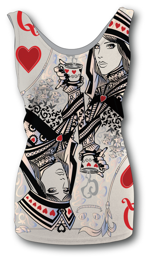 Women's Queen of Hearts Tank Top