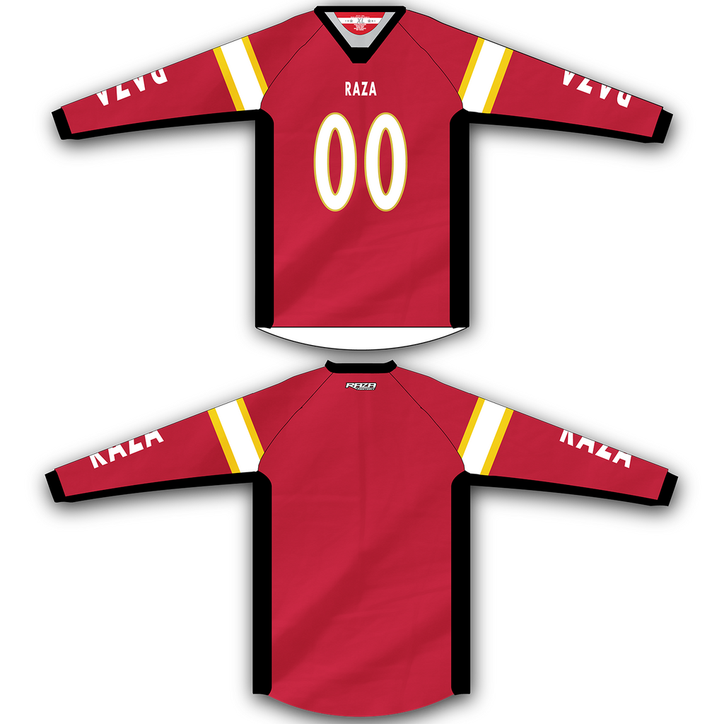 Red Gold White Jersey