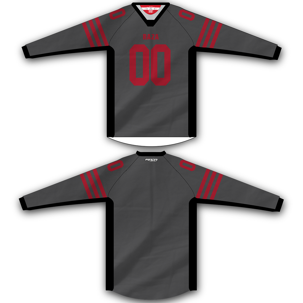 Red Gray Jersey